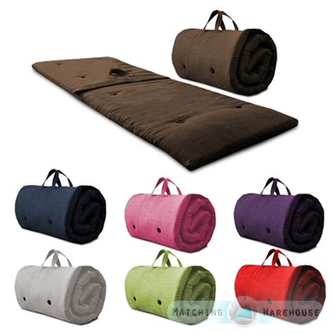 roll up futon roly poly guest sleep over mattress roll up futon z bed