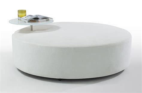 white fabric ottoman divani casa modern white fabric ottoman and end table