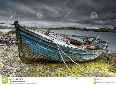 fishing boat on the beach old boat on beach stock photo image of damaged nature