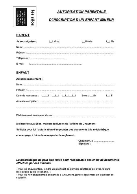 Lettre De Sortie D Entreprise Calam 233 O Formulaire D Autorisation Parentale