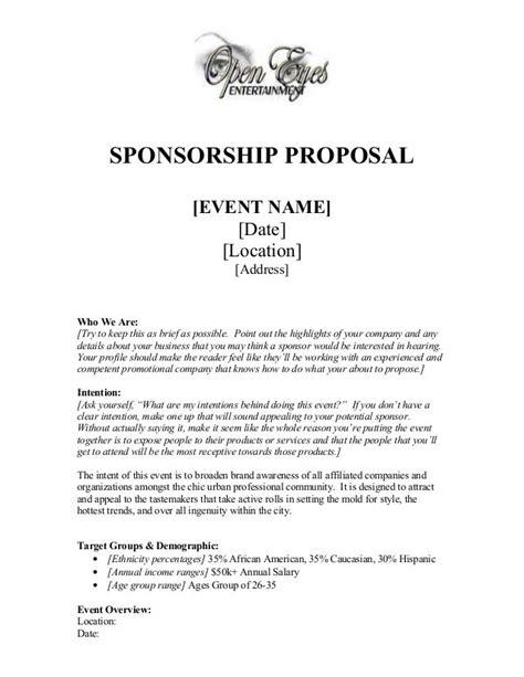 sponsorship proposal template sponsorship proposal