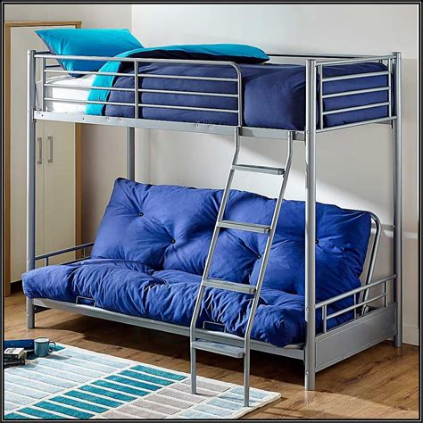 Bunk Beds With Futon Underneath by Futon Bunk Bed With Mattresses Roselawnlutheran
