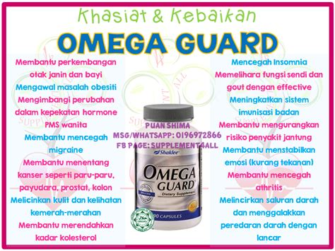 Minyak Ikan Omega 3 Shaklee supplement4all specially created 4 you supplement