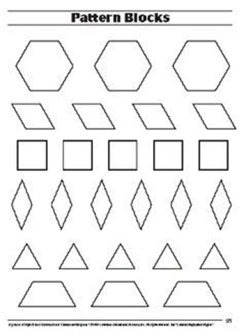 pattern block templates free printable pattern block plates math grade 2 patterns search