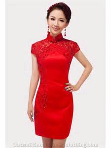 lace red chinese dresses cheongsam qipao short bridal gown cntraditionalchineseclothing com