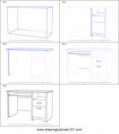 how to draw a desk how to draw a computer desk printable step by step drawing