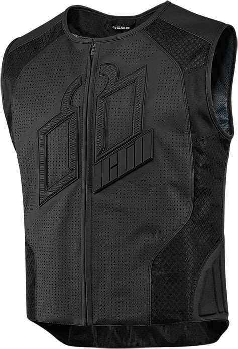 motorcycle riding vest leather icon hypersport prime leather mesh vest powersports