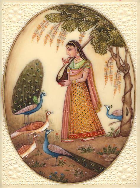 Handmade Portraits - kakubha ragini miniature indian ethnic handmade