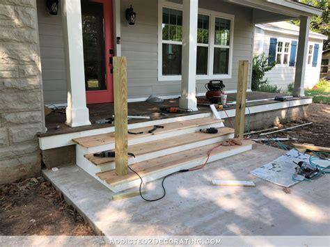 building  front porch steps part  treads risers