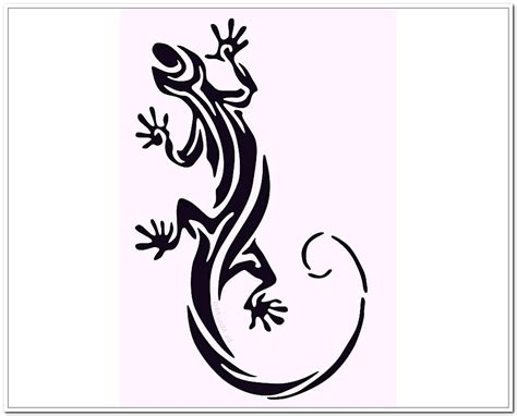 tribal gecko tattoo lizard tattoos lizard designs 2011