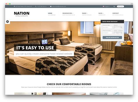 hotel website layout design 30 best hotel apartment vacation home booking