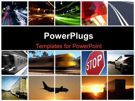 different powerpoint templates powerpoint template a collage depicting different modes