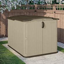 suncast gsb horizontal storage shed  cubic feet