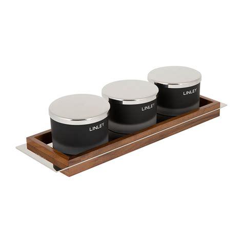 Black Candle Tray Buy Linley Black Glass Candle Set Tray Amara