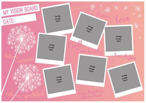free vision board template designsta