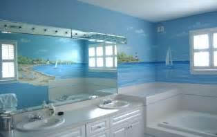 bathroom wall mural ideas seascape mural in bathroom traditional bathroom