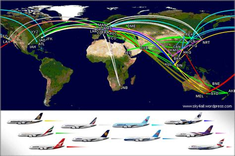 emirates a380 routes airbus a380 routes