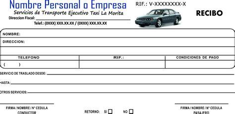 recibo de taxi formato de recibo de taxi solicitar factura a paypal