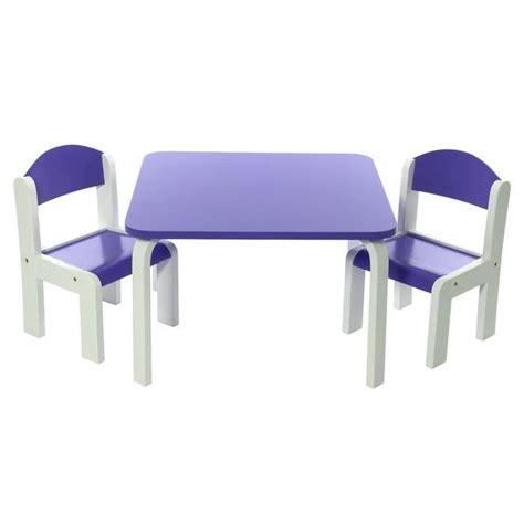 ensemble table et chaise enfant ensemble table et chaises enfant violet en bois fabio momo