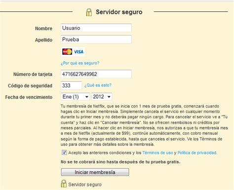 pagina de generador de tarjetas de credito ver netflix gratis sin usar tu tarjeta de cr 233 dito y sin