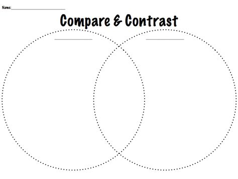compare and contrast diagrams compare contrast worksheets worksheets