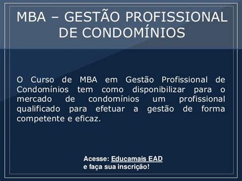 Mba Ead by Mba Gest 227 O Profissional De 237 Nios P 243 S Educa Ead