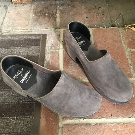 swedish comfort clogs swedish hasbeens sz 42 wooden grey suede clogs creatures