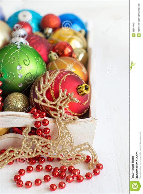 colorful christmas decorations stock photo image 63559512