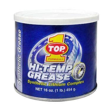 Hitemp Grease Top1 Biru jual top 1 hi temp grease gemuk bearing roda serbaguna 454 g harga kualitas