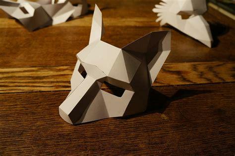printable geometric mask template tiermasken basteln das ist ein kinderspiel mit den