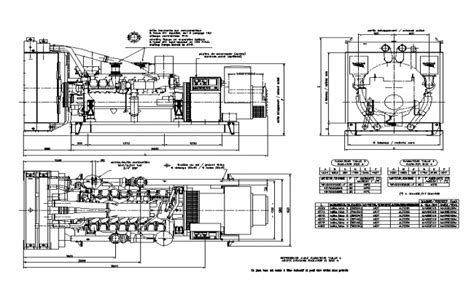 Drawing Generator by Generator Detail In Autocad Dwg Files