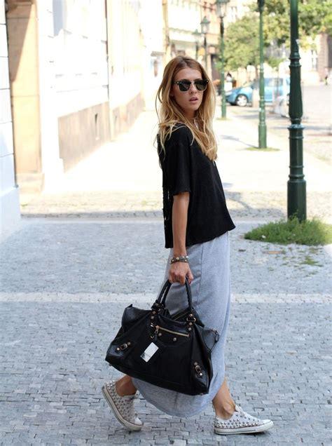 maxi skirt www theczechchicks converse