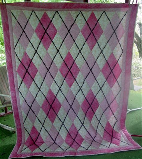 Argyle Quilt Pattern Free by Strawberry Patch Argyle Quilt Cocoles