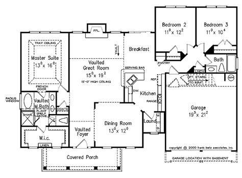 split bedroom floor plans 1600 square house plans