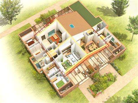 Duplex Home Plans by Perspectives 3d Pour La Promotion Immobili 232 Re Julien Weber