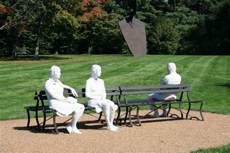 george segal three figures and four benches panoramio photo of three people on four benches by