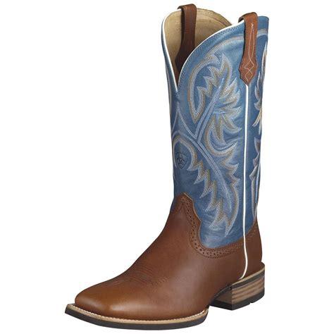 mens blue cowboy boots s ariat 174 13 quot quickdraw western boots cedar blue