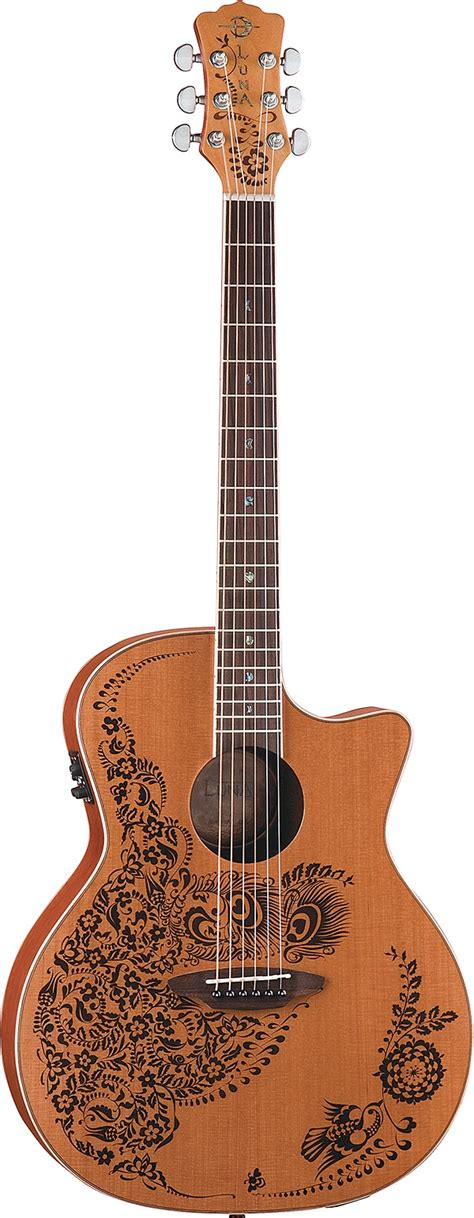 henna design guitar 48 best images about cedar top guitars on pinterest