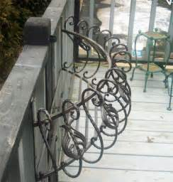 35 quot iron curved window box wall planter antique black