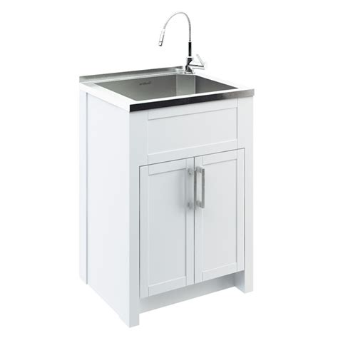 laundry sink cabinet odyssey stainless steel laundry tub with cabinet rona
