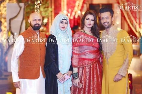 atif aslam wife latest pictures of atif aslam with his wife reviewit pk