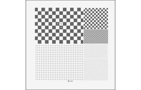 dot pattern test chart 4 quot square micro multi slide dot pattern and checkerboard