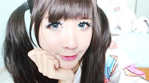 korean doll makeup tutorial korean big eye circle lenses korean skin care makeup