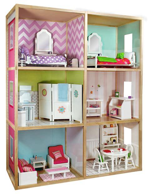 dollhouse home my girls dollhouse for 18 dolls modern home pretend
