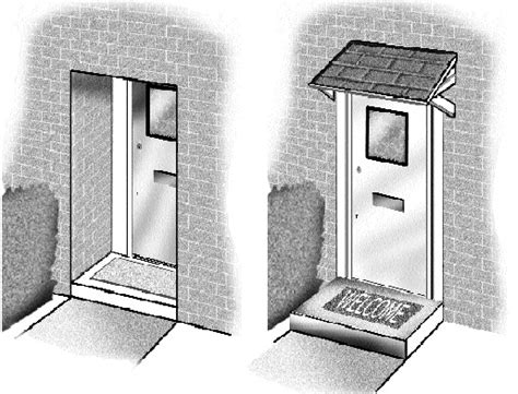 house recess recessed doors in houses and blocks of flats the crime prevention website