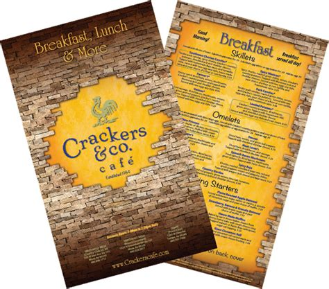 graphic design cafe menu restaurant menu design cracker s cafe twin water