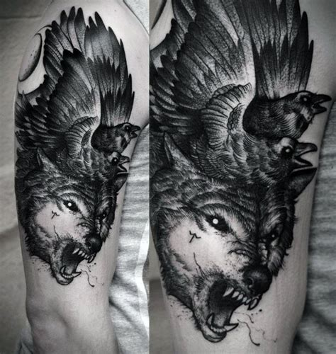 cool wolf tattoos 70 wolf designs for masculine idea inspiration