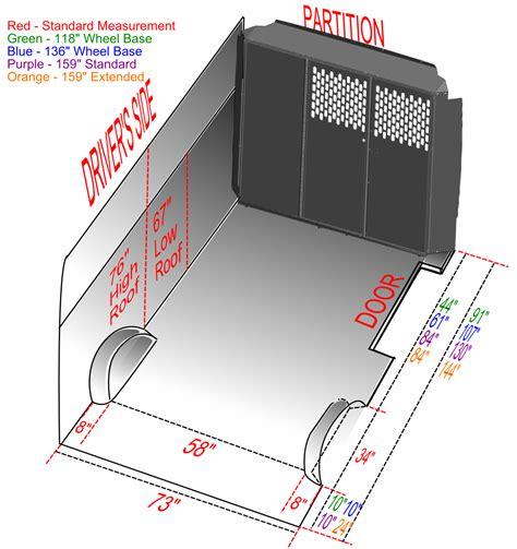 Floor Plan Express by Ram Promaster Van Dimension