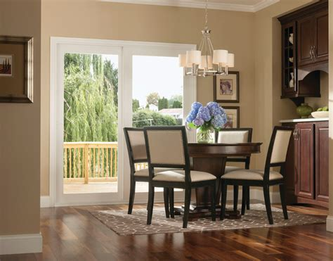 Dining Room With Patio Doors Patio Doors Transitional Dining Room Other Metro