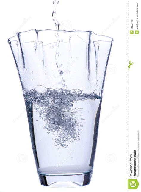 Vase Of Water by Pouring Water To Vase Royalty Free Stock Image Image